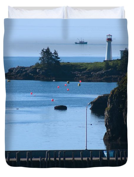 Illusion At Beaver Harbour Light Duvet Cover