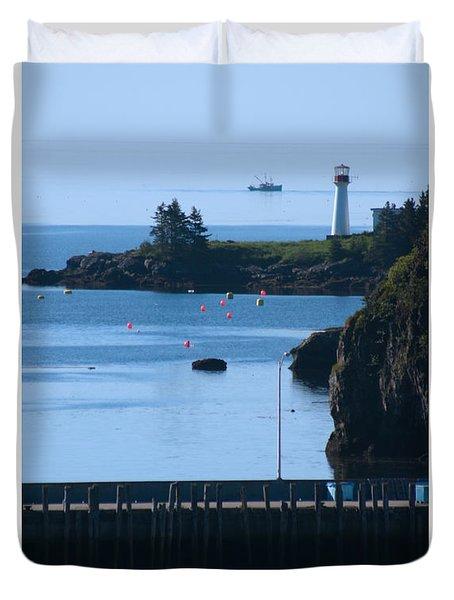Illusion At Beaver Harbour Light Duvet Cover