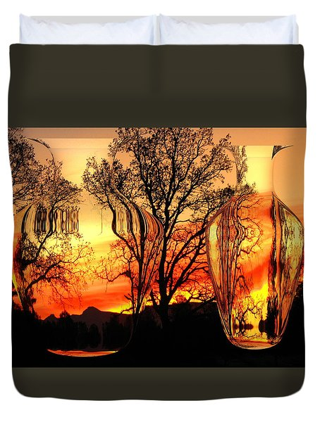 Duvet Cover featuring the photograph Illusion by Joyce Dickens