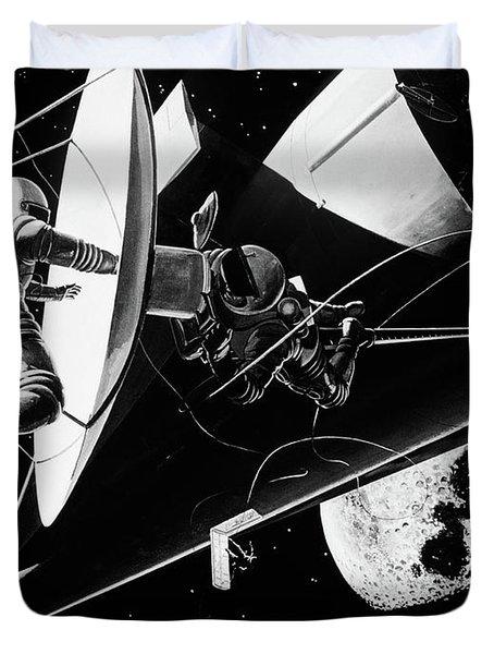 Illustration 1960s Weightless Duvet Cover