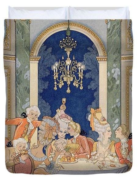 Illustration From 'les Liaisons Dangereuses'  Duvet Cover by Georges Barbier