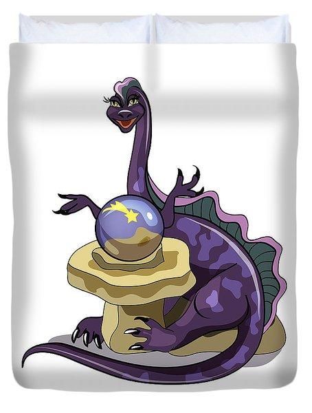 Illustration Of A Plateosaurus Fortune Duvet Cover by Stocktrek Images