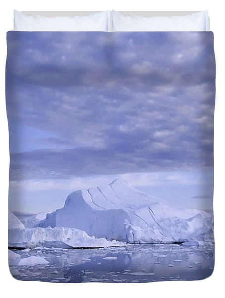Ilulissat Icefjord Greenland Duvet Cover by Rudi Prott