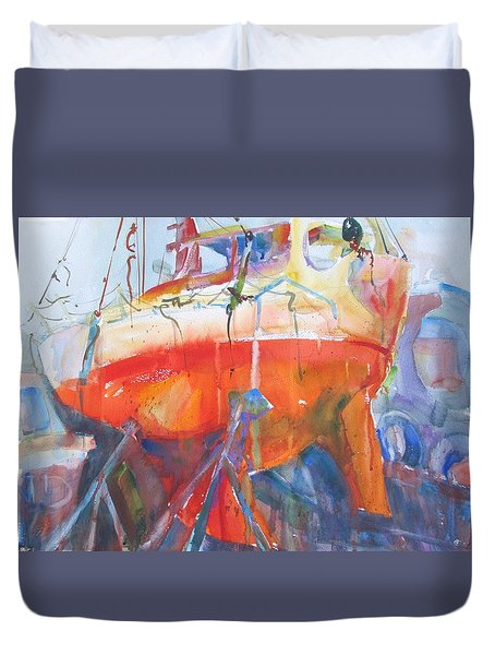 Ilwaco Orange Duvet Cover
