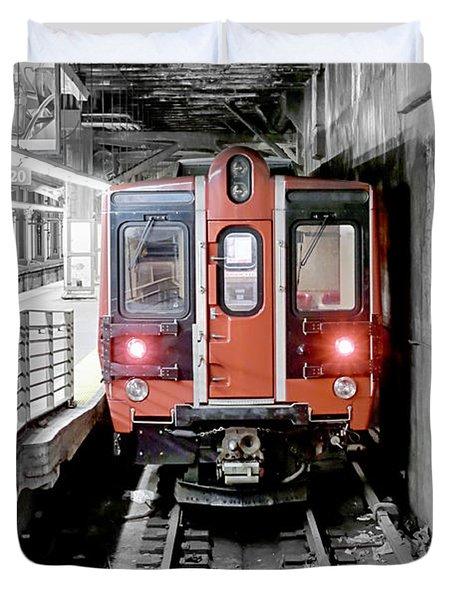 I'm Leaving On A Train Duvet Cover