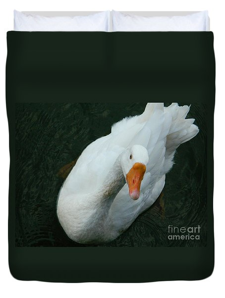 Duvet Cover featuring the photograph I'm Lookin' At You by Emmy Marie Vickers