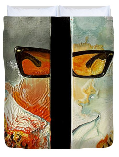 I'm Smiling At You Duvet Cover by Joseph Demaree