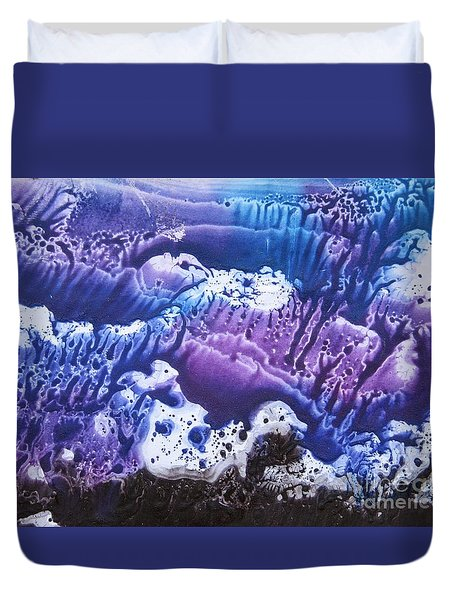 Duvet Cover featuring the painting Imagination 3 by Vesna Martinjak