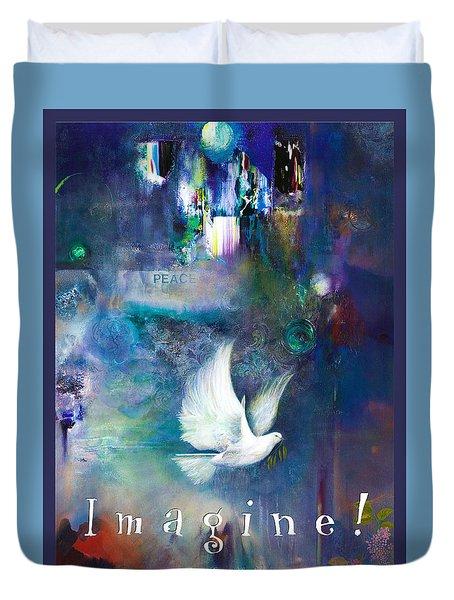 Imagine 4 Kids - Original Art Giclee Duvet Cover