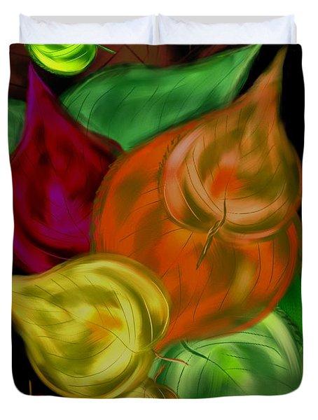 Imagine Leaves Duvet Cover by Christine Fournier