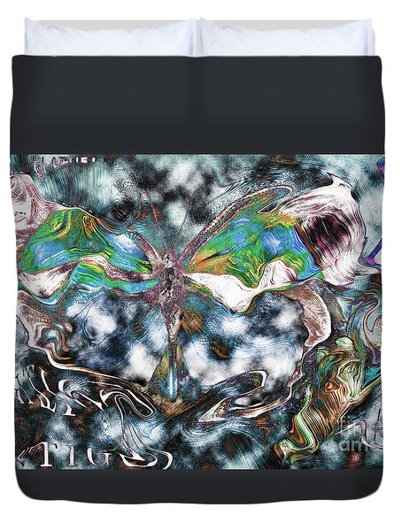 Imagine Number 2 Butterfly Art Duvet Cover by Andy Prendy