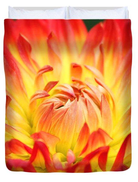 Img 0023 Flor En Rojo Detalle Duvet Cover