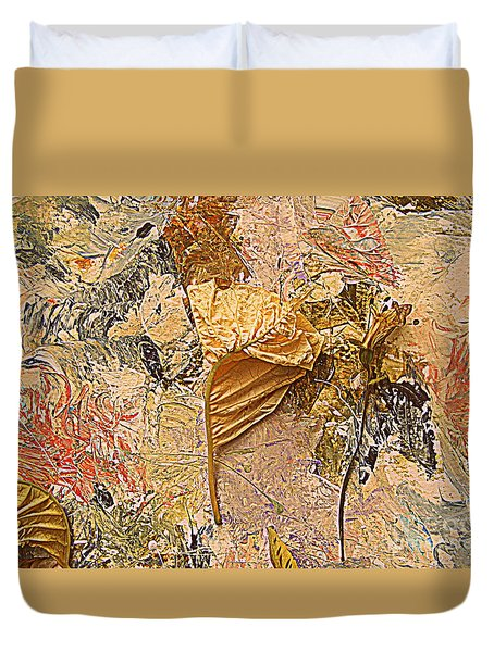 Duvet Cover featuring the painting Imitation Of Art by Nancy Kane Chapman
