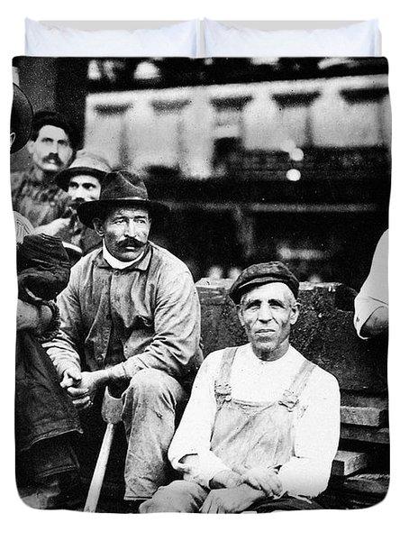 Immigrant Labor, 1910 Duvet Cover