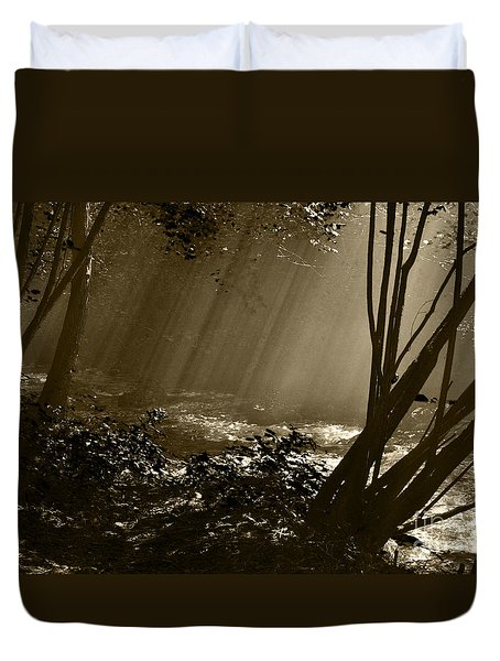 Duvet Cover featuring the photograph Imminent Apparition by Simona Ghidini