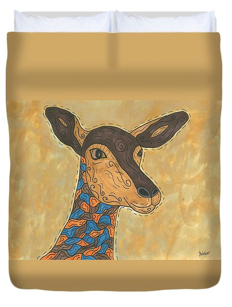 Duvet Cover featuring the painting Impala Antelope by Susie Weber