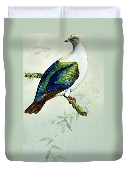 Imperial Fruit Pigeon Duvet Cover by Bert Illoss
