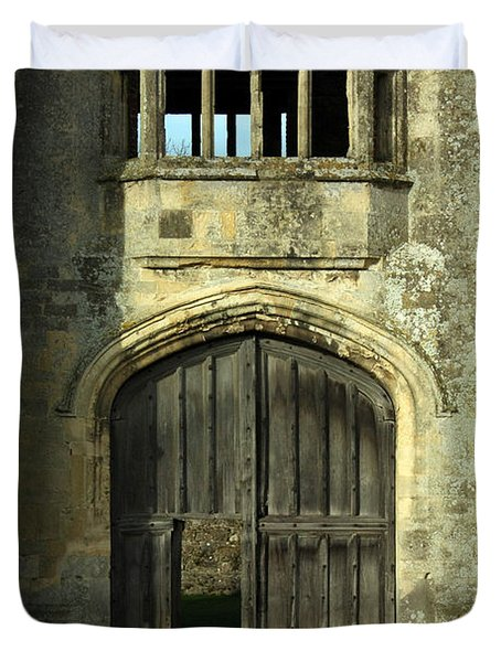 Imposing Front Door Of Titchfield Abbey Duvet Cover by Terri Waters