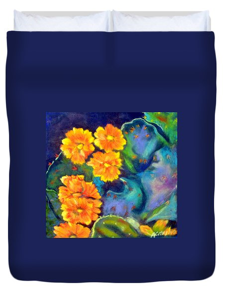 Impression Of Cactus Flower Sold Duvet Cover