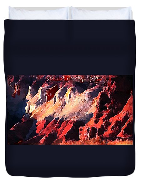 Impression Of Capitol Reef Utah At Sunset Duvet Cover