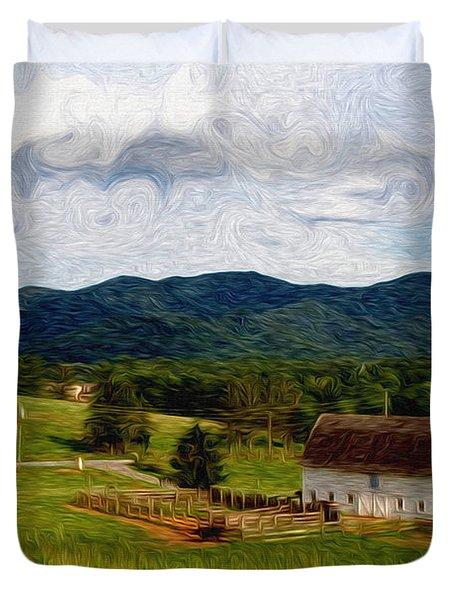 Impressionist Farming Duvet Cover by John Haldane