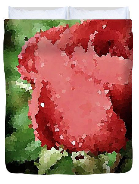 Impressionistic Rose Duvet Cover by Chris Berry