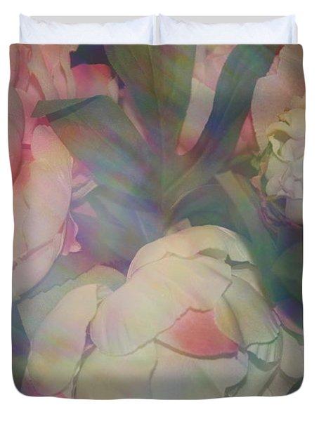 Duvet Cover featuring the photograph Impressionistic Spring Bouquet by Dora Sofia Caputo Photographic Art and Design