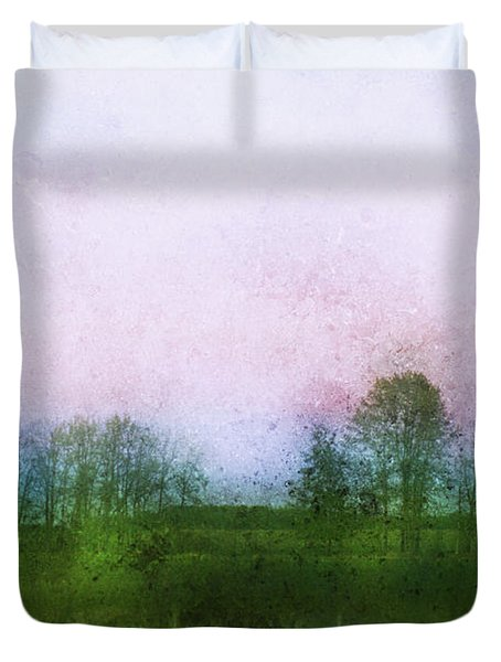Impressionistic Style Of Trees Duvet Cover by Roberta Murray