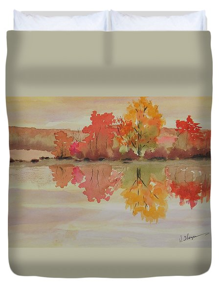 Impressions Of Fall Duvet Cover