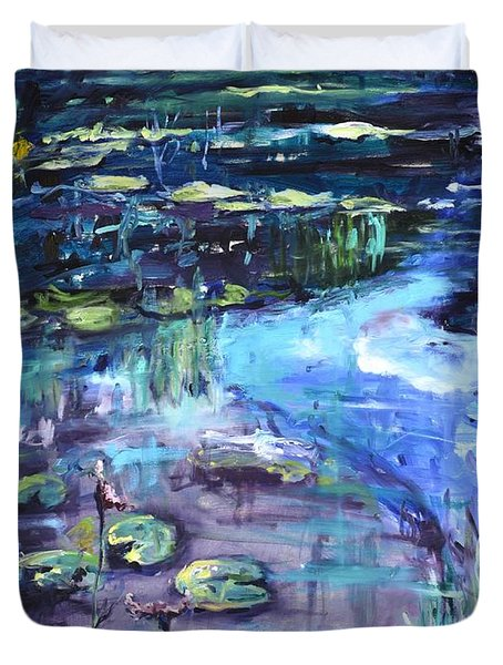 Impressions Of Giverny Duvet Cover by Donna Tuten