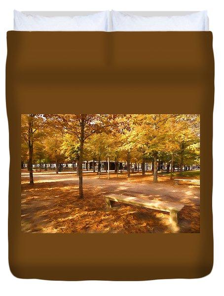 Impressions Of Paris - Tuileries Garden - Come Sit A Spell Duvet Cover
