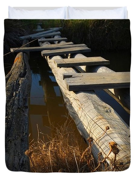Improvised Wooden Bridge Duvet Cover