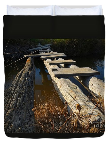 Improvised Wooden Bridge Duvet Cover