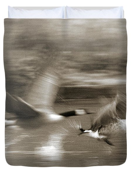 In A Blur Of Feathers Duvet Cover