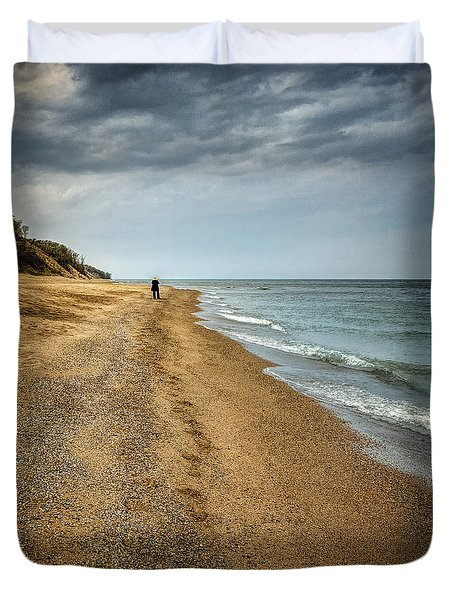 In All Things You Do Consider The End Duvet Cover by Jeff Burton