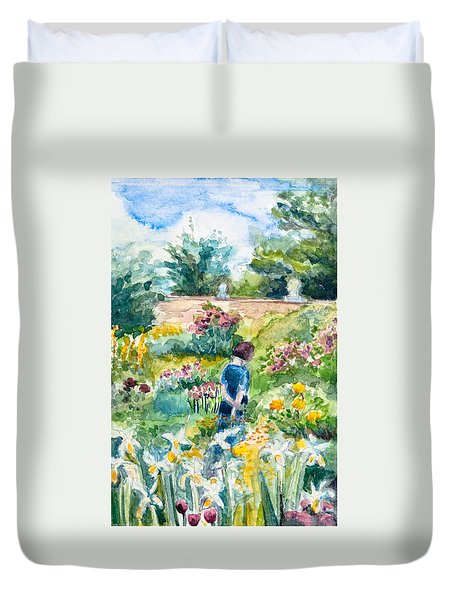 In An English Cottage Garden Duvet Cover