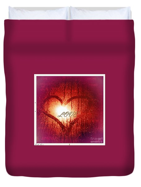 In Any Language The Emotion Is The Same Duvet Cover by Linda Lees