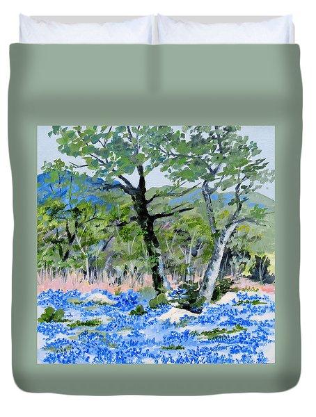In April-texas Bluebonnets Duvet Cover