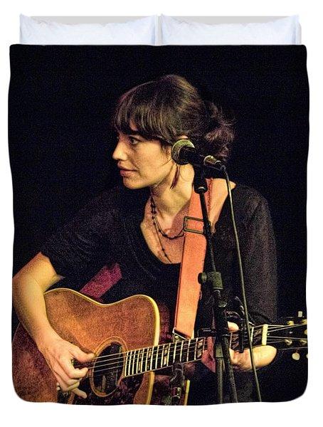 In Concert With Folk Singer Pieta Brown Duvet Cover