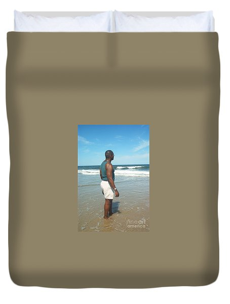 Duvet Cover featuring the photograph In Deep Thought by Emmy Marie Vickers