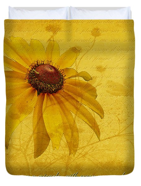 In Every Flower See A Miracle Duvet Cover by Mother Nature