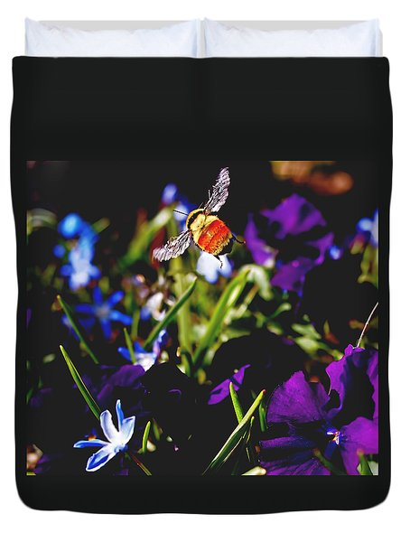 In Flight Duvet Cover by Rona Black