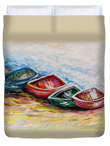 In From The Sea Duvet Cover by Eloise Schneider