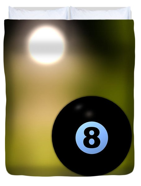 In Front Of The Eight Ball Duvet Cover by Bob Orsillo