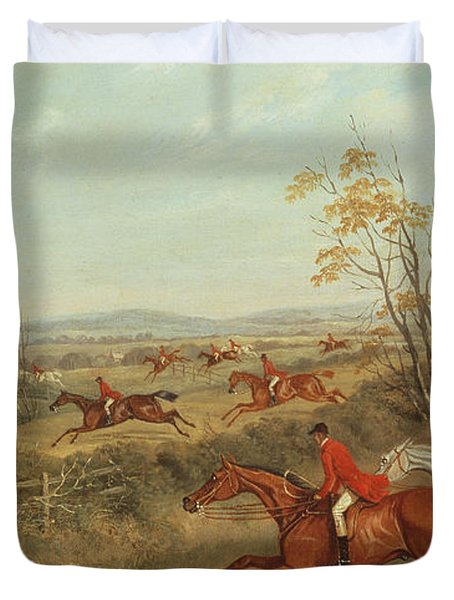In Full Cry Duvet Cover by James Russell Ryott