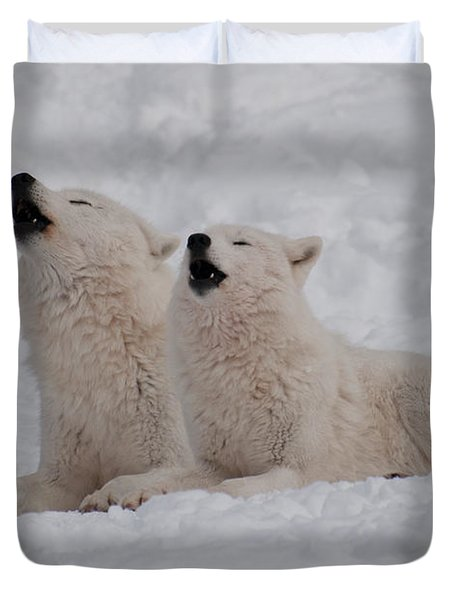 Duvet Cover featuring the photograph In Harmony by Bianca Nadeau