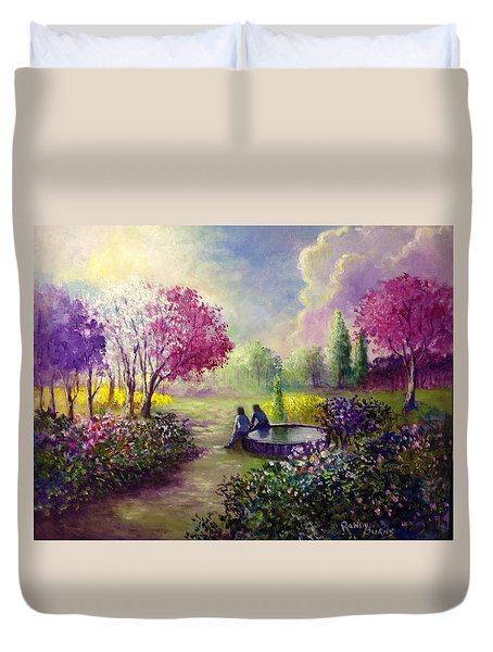 In Heaven Everything Is Fine Duvet Cover by Randy Burns
