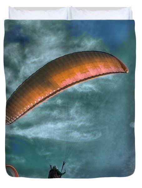 Duvet Cover featuring the photograph In Heaven by Julis Simo