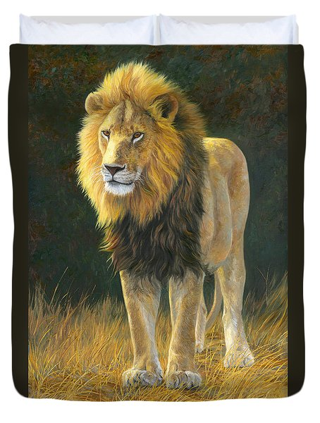 In His Prime Duvet Cover by Lucie Bilodeau