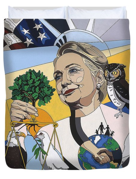 In Honor Of Hillary Clinton Duvet Cover